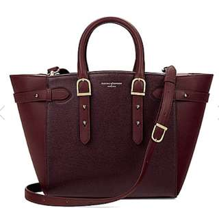 ASPINAL OF LONDON Marylebone medium Saffiano leather tote