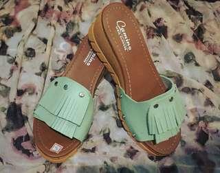 Wedge Sandals (Mint Green)