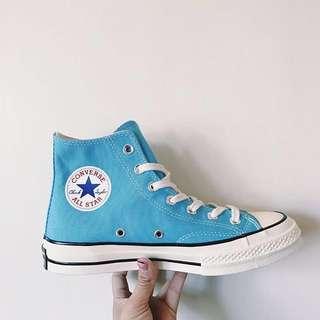 🚚 Converse All Star 70s 天空藍 亮藍 baby藍 高筒 帆布鞋 三星標