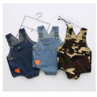 0-3T Baby Denim Jumpsuit Romper