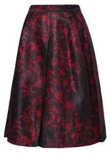Jacquard printed skirt