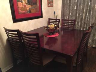 Dining table set great condition bought at the Brick