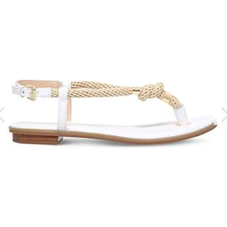 MICHAEL MICHAEL KORS Holly leather and rope sandals