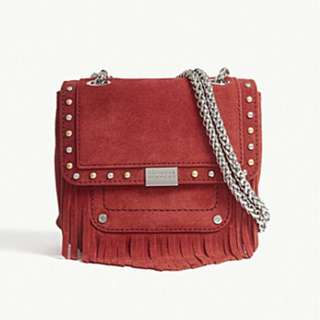 CLAUDIE PIERLOT Angela suede cross-body bag