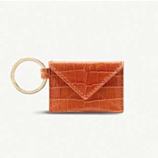 SMYTHSON Mara envelope leather keyring