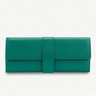 SMYTHSON Grosvenor small leather jewellery roll