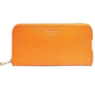 ASPINAL OF LONDON Continental clutch lizard-embossed leather wallet