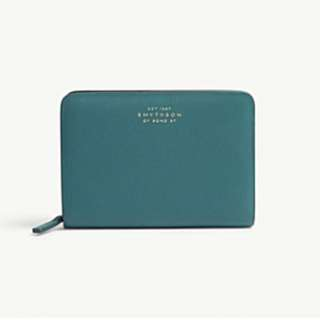 SMYTHSON Compton leather zip coin purse