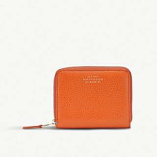 SMYTHSON Burlington leather coin zip purse