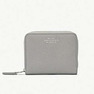 SMYTHSON Panama zip leather coin purse