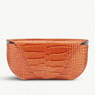 SMYTHSON Mara crocodile-printed calf leather sunglasses case