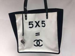 Chanel vintage 黑白布袋 full set