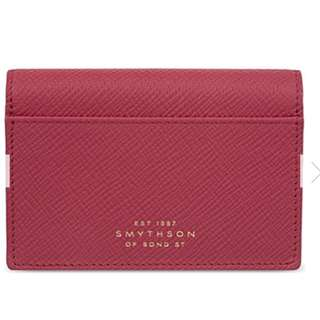 SMYTHSON Panama cross-grain leather card case