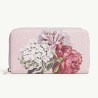 TED BAKER Palace Gardens print leather matinee purse