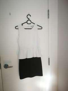 H&M peplum work dress size small