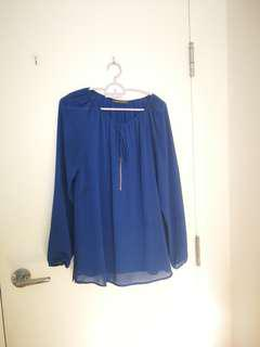 Suzy Shier Royal Blue shirt small