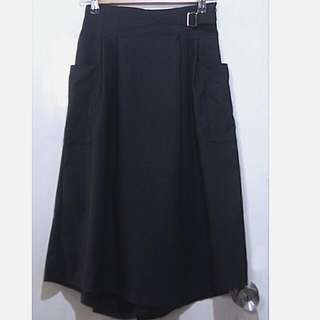 wide leg black cullotes