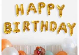 派對佈置-鋁箔氣球HAPPYBIRTHDAY 派對 場景裝飾.會場佈置
