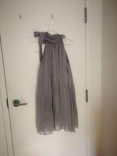 Small Grey chiffon dress