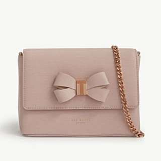 TED BAKER Bow mini leather cross-body bag