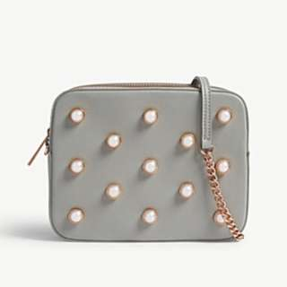 TED BAKER Alessia pearl leather camera bag