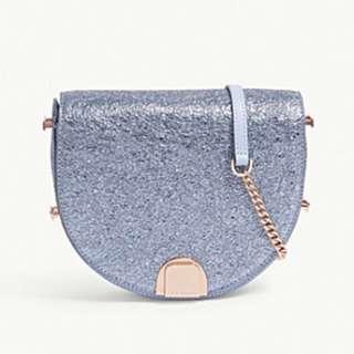 TED BAKER Roxaane textured leather moon bag