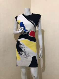 New without tag CÉLINE BRUSHSTROKE ABSTRACT SLEEVELESS DRESS