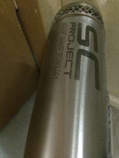r25 u-turn pipe with bomb akrapovic