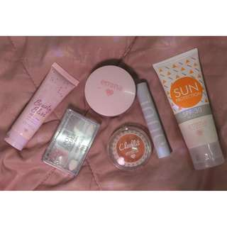 Take it ALL Emina Product ( eye shadow, bedak, blush on, lipstick, sun protection, BB cream )