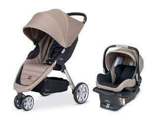 Stroller with carseat