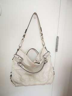 Coach White Leather Handbag