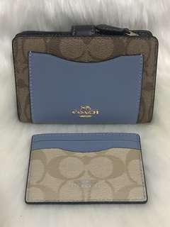 Coach Leather Wallet and Card Case Set from USA