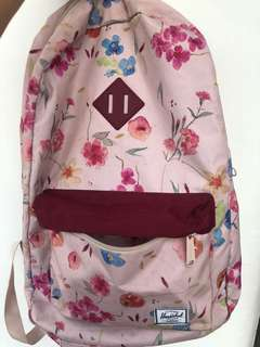 Herschel Pink Floral Backpack