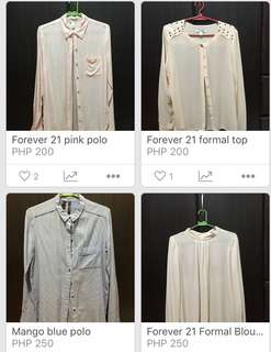 Polo bundle!!! Get any 3 for 600 or all for 750!!!