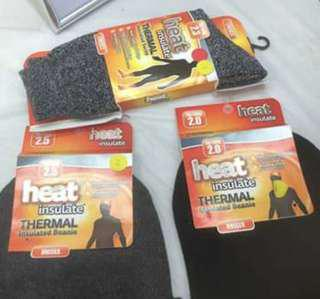 Thermal Beanies and socks