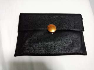 Pazzion Leather Clutch in Black - New