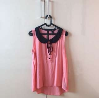 Forever 21 Atasan Pink Top Blouse