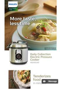 Philips electric pressure cooker 5l hd-2103