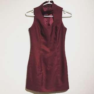 Sexy Maroon Dress