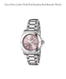 Women Gucci Dive ladies's stainless steel watch in silver