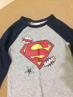 H&M Superman Long Sleeve Shirt!