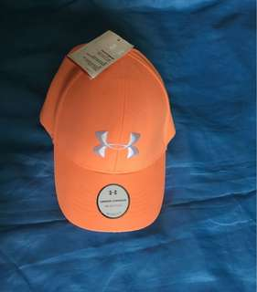 Authentic UNDER ARMOUR Big logo cap orange women/ unisex