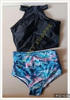 Black Top Bikini Wear Swim Suit