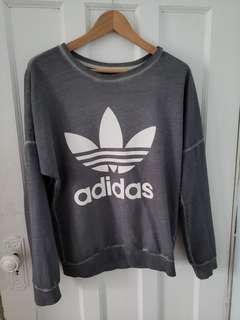 Grey adidas crewneck - REDUCED