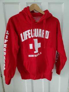 Red Lifeguard Hoodie.