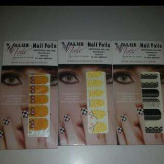3pcs for $3nett. Nail Foil.