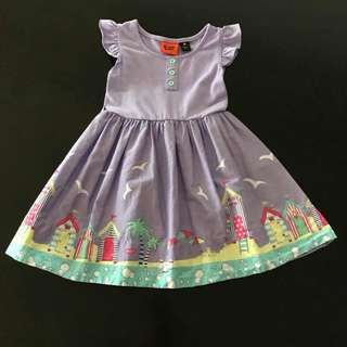 Size 2 Vgc Fun Spirit House print dress with back tie