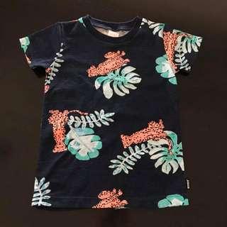 Size 3 nwot Bonds Leopard Party Print short sleeve tshirt tee