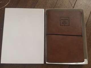 Brown Refillable Leather Journal