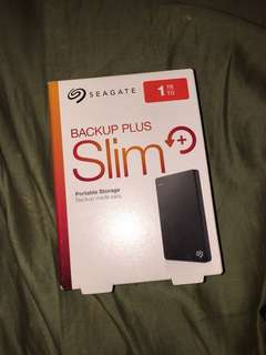 1TB Seagate Backup Plus Slim Hard drive